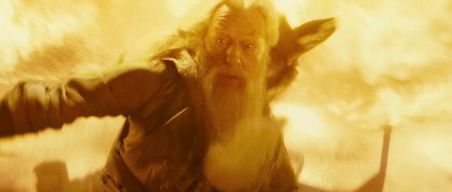 Michael Gambon in una scena di Harry Potter 6