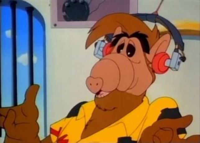 Alf è stato protagonista anche di una serie di cartoni animati