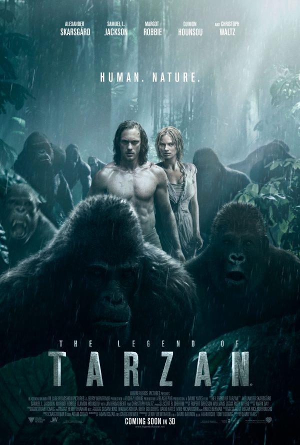 Il poster di The Legend of Tarzan con Alexander Skarsgård e Margot Robbie