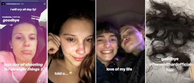 Millie Bobby Brown piange per la fine delle riprese di Stranger Things 3