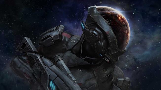 L'eroe di Mass Effect: Andromeda in un artwork ufficiale