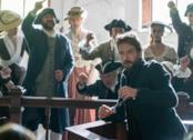 Crane sul banco degli imputati nella serie Sleepy Hollow.