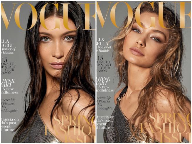 Gigi Hadid e Bella Hadid su Vogue