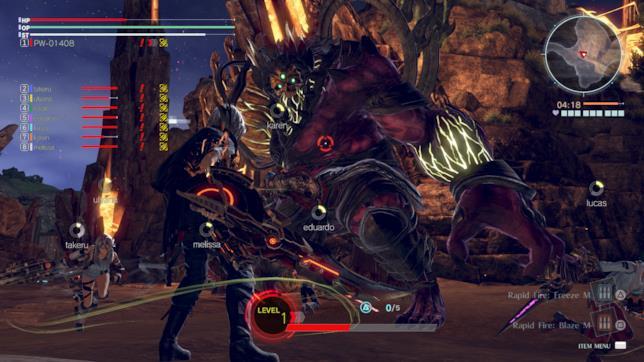 Uno screenshot da God Eater 3