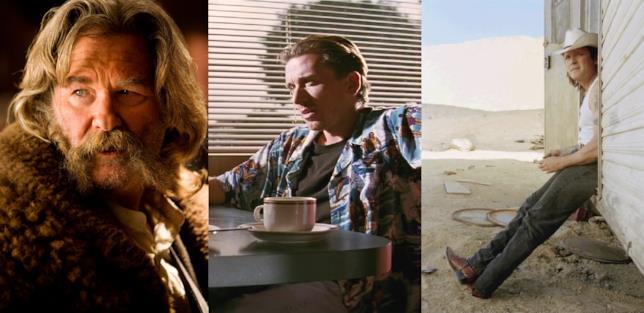 Collage di Russell, Roth e Madsen nei precedenti film di Tarantino