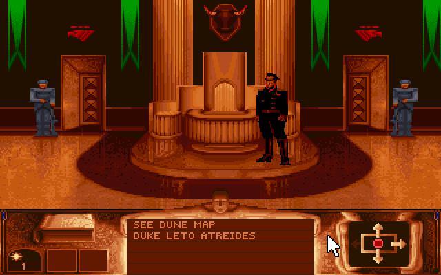 Uno screenshot dall'originale videogioco Dune