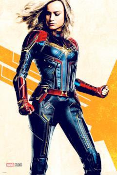 Carol Danvers fiera in costume nel poster di febbraio 2019