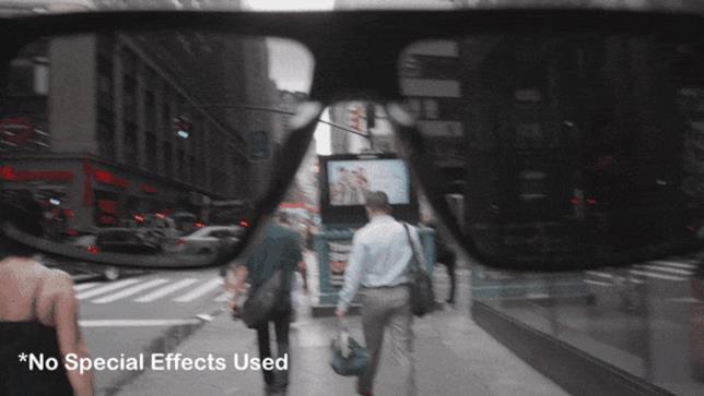 GIF mostra gli effetti degli occhiali