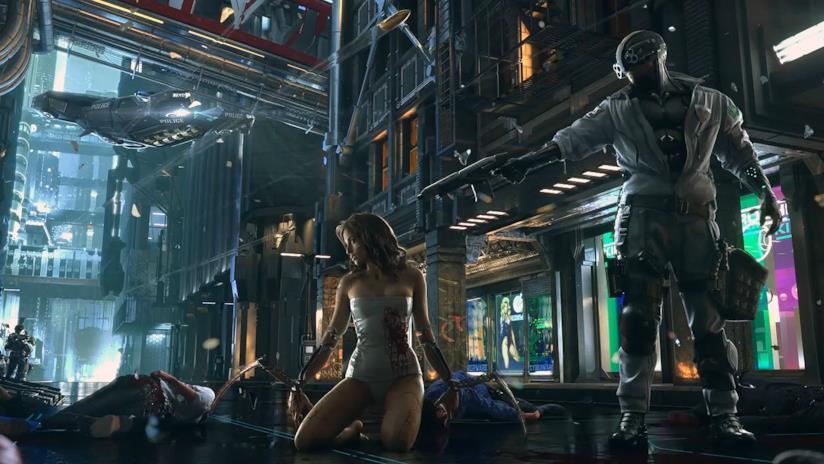 La keyart di Cyberpunk 2077