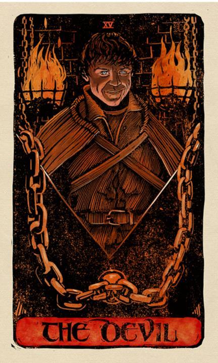 La carta del Diavolo nei tarocchi di Game of Thrones