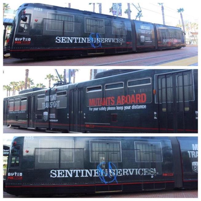 I treni della città di San Diego abbelliti a tema The Gifted