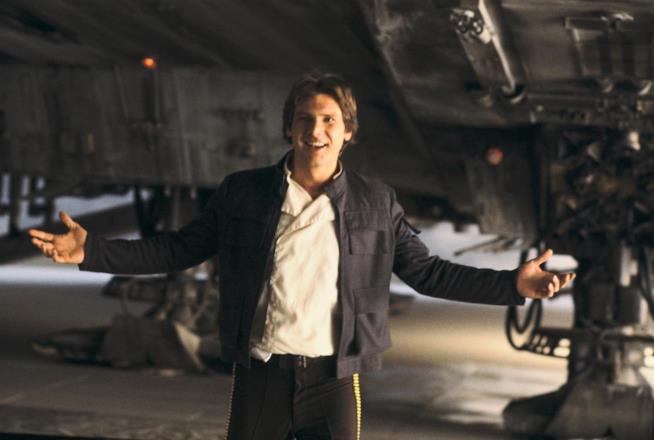 Harrison Ford negli iconici panni di Han Solo