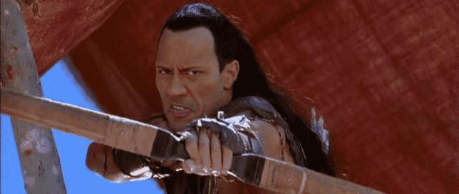 The Rock in una scena de Il Re Scorpione
