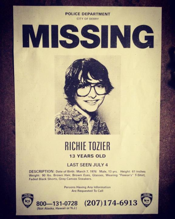 Richie Tozier, scomparso a Derry