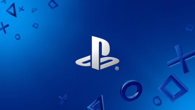 Il logo del PlayStation Store a marchio Sony