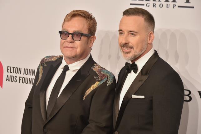 Elton John con il marito David Furnish