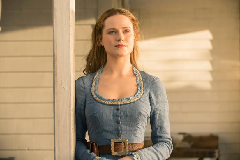 Evan Rachel Wood nei panni di Dolores Abernathy in Westworld