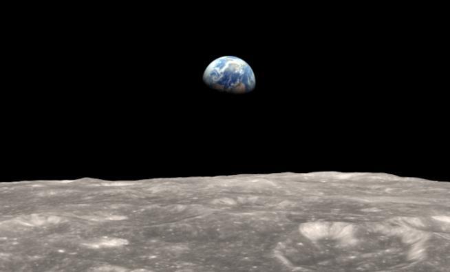 Un'immagine della luna