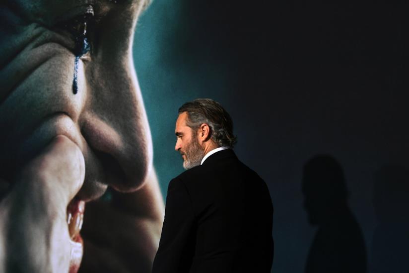 Una foto di Joaquin Phoenix alla premiere di Los Angeles di Joker