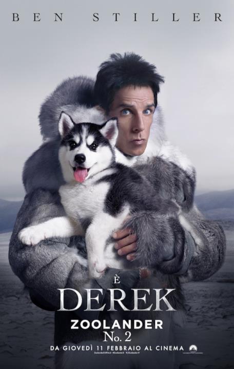 La locandina di Zoolander 2 col personaggio di Derek