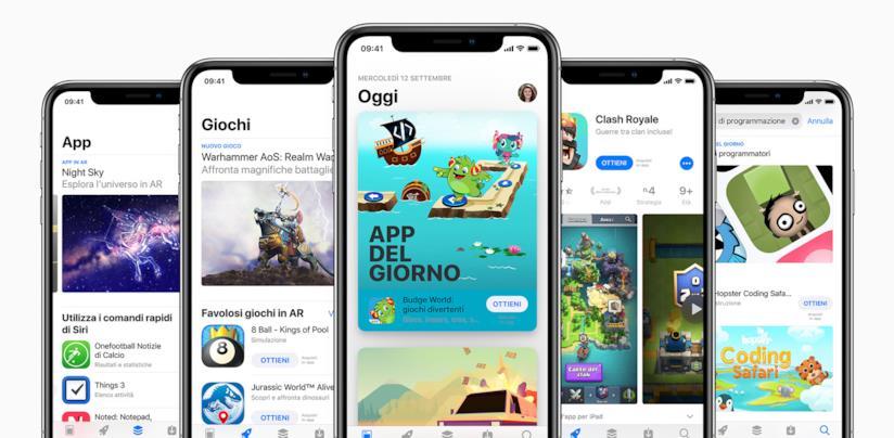 Immagine promozionale di Apple App Store