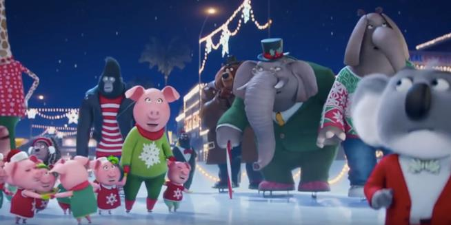 Il video di Natale degli animali di Sing