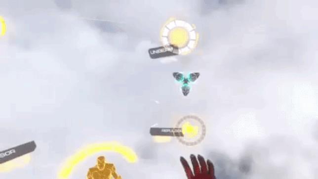 Scena di gioco tratta dal trailer di Iron Man VR
