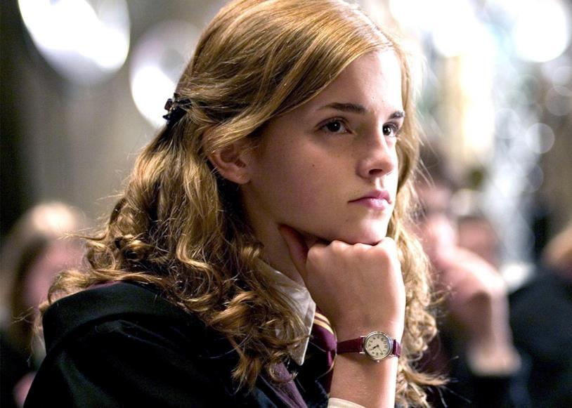 Emma Watson in una scena di Harry Potter
