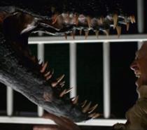 Una scena mostrata nel trailer di Jurassic World - Il regno distrutto