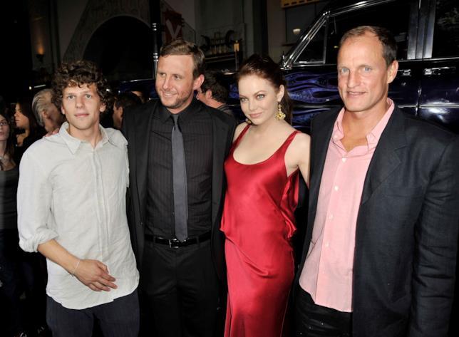 Il cast ed il regista di Zombieland nel 2009