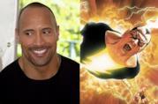 Un collage tra The Rock e Black Adam