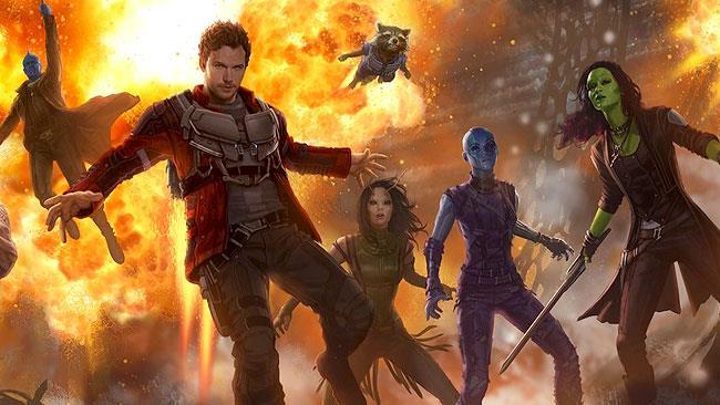 Star-Lord e la sua banda in Guardiani della Galassia Vol. 2