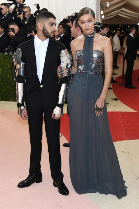 Zayn Malik e Gigi Hadid alla serata del Met Gala 2016