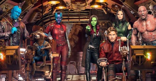 Il cast dei Guardiani della Galassia al gran completo