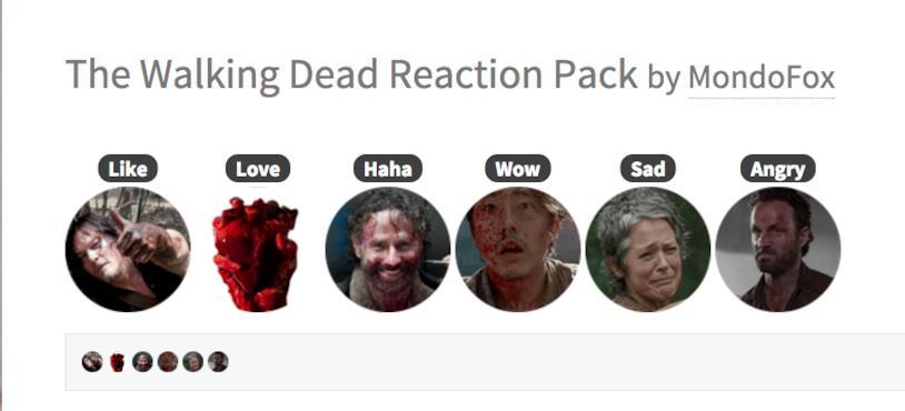 Le Reaction di Facebook con i personaggi di The Walking Dead