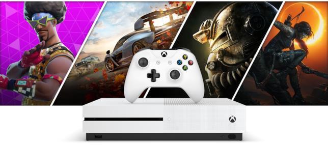 Un'immagine promozionale di Xbox One S