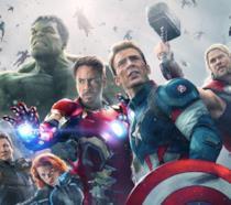 Un'immagine corale di Avengers: Age of Ultron