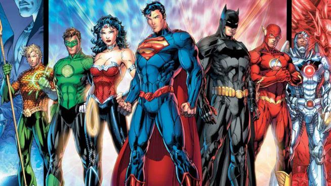 La Justice League dei fumetti al gran completo