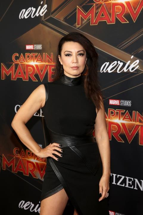 Ming-Na Wen in posa per i fotografi alla première di Captain Marvel