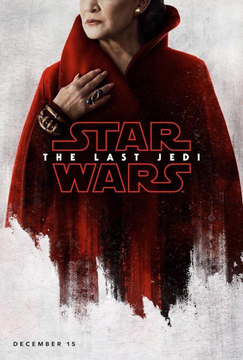 Il character poster di Leia in Episodio VIII