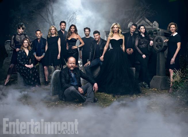 Gli attori di Buffy e Joss Whedon alla reunion di EW