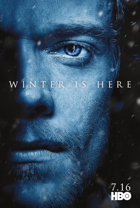 GOT 7: Theon Greyjoy con il Re della Notte visibile nell'occhio