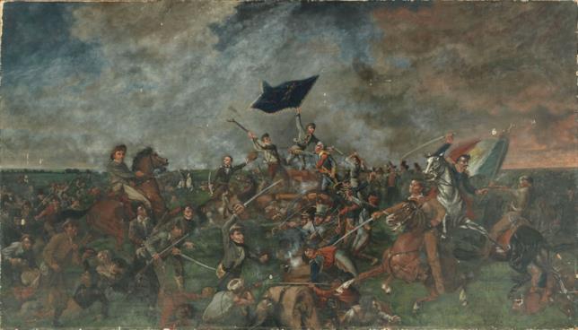 Il dipinto: La battaglia di San Jacinto