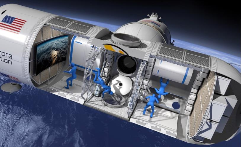 Stazione spaziale Aurora: gli interni del primo modulo