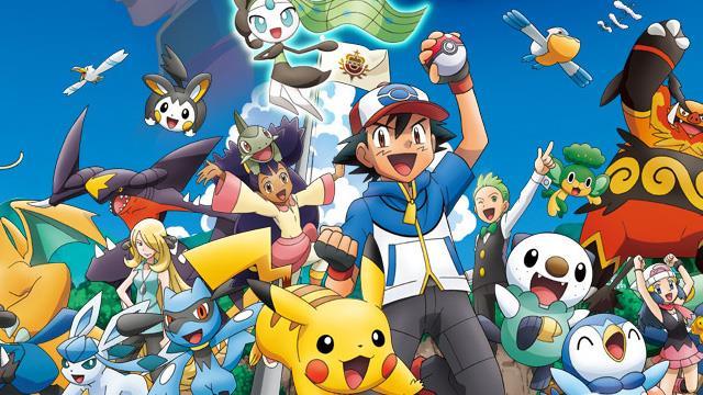 Ash festeggia con alcuni dei Pokémon più amati