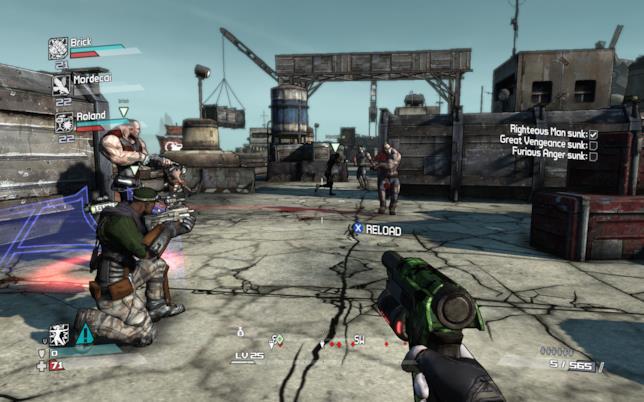 Immagine di gameplay da Borderlands
