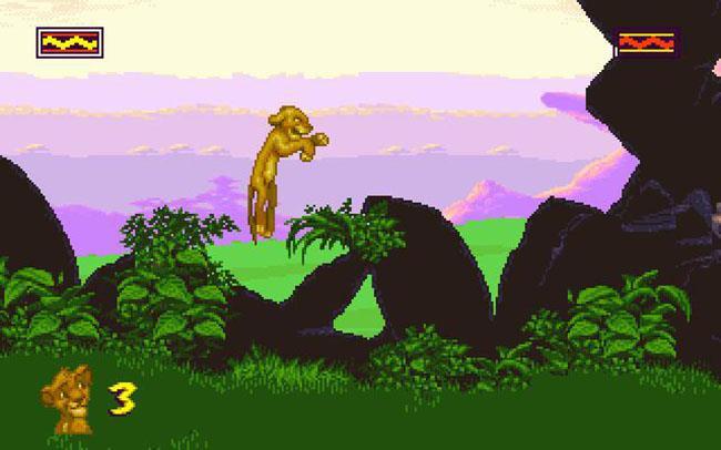 Un frame del videogioco Il Re Leone uscito nel 1994