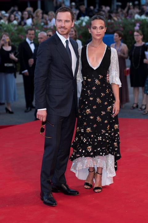 Alicia Vikander e Michael Fassbender a Venezia 73