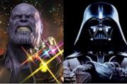 Thanos e Darth Vader, villain del cinema