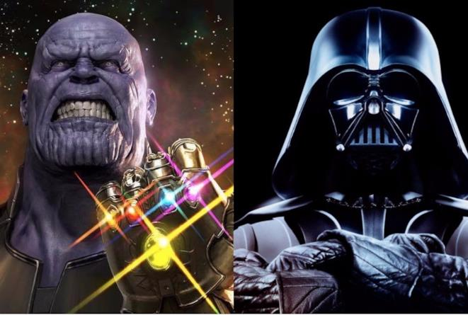 Thanos e Darth Vader, villain del cinema